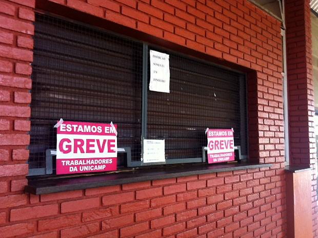 Greve na Unicamp deixa funcionários e alunos sem refeições em bandejão (Foto: Virgginia Laborão / G1 Campinas)