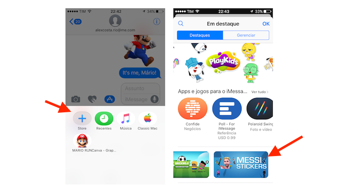 App Store do iMessage acessada através do iPhone (Foto: Reprodução/Marvin Costa)