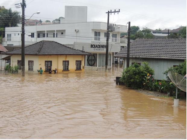 Chuva provoca alamentos em Ituporanga (Foto: Prefeitura de Ituporanga/ Divulgação)