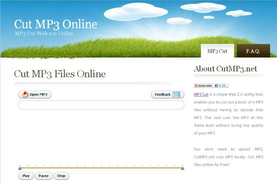 screenshot de CutMP3.net