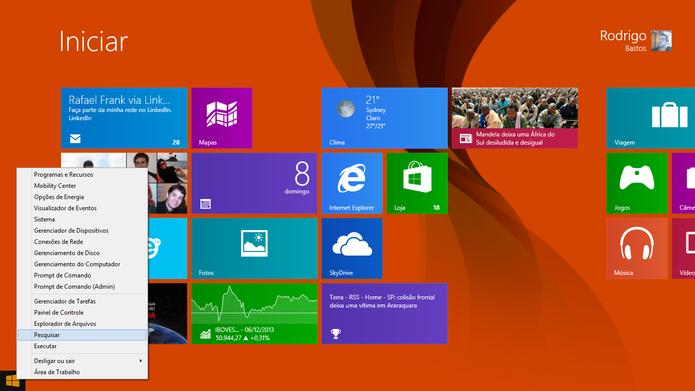 Atualização sistema Windows 8.1 (Foto: Rodrigo Bastos/TechTudo)