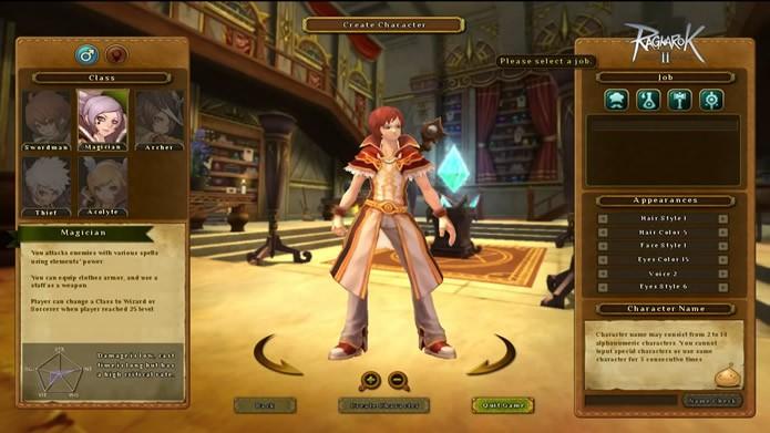 Execute o jogo e crie um avatar (Foto: Reprodução/Daniel Ribeiro)