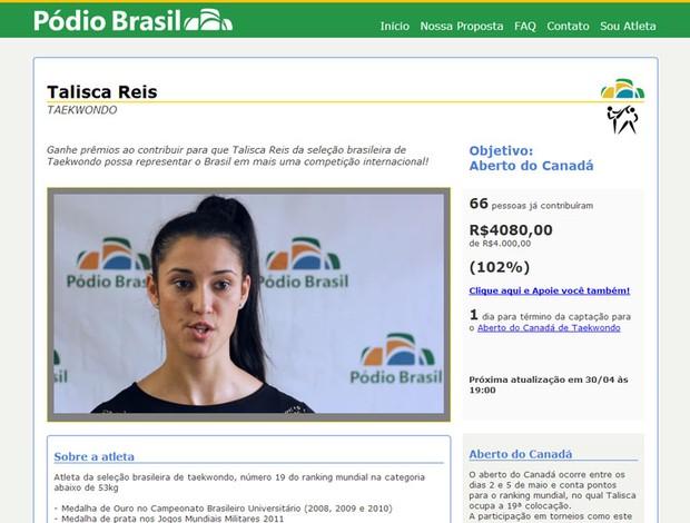 reprodução pódio brasil talisca reis taekwondo (Foto: Reprodução)