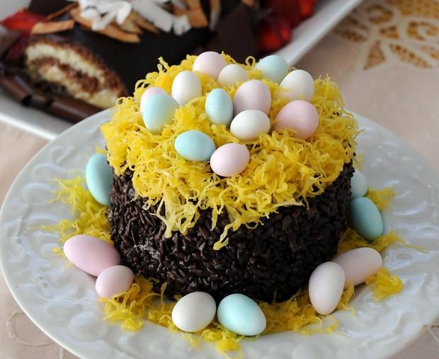 Bolo ninho de ovos (Foto: Divulgação)