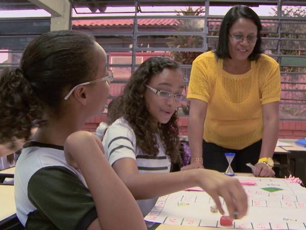 Meu professor é o cara: Rosenilde Ivanyr, professora de Matemática; como será? (Foto: Reprodução de TV)