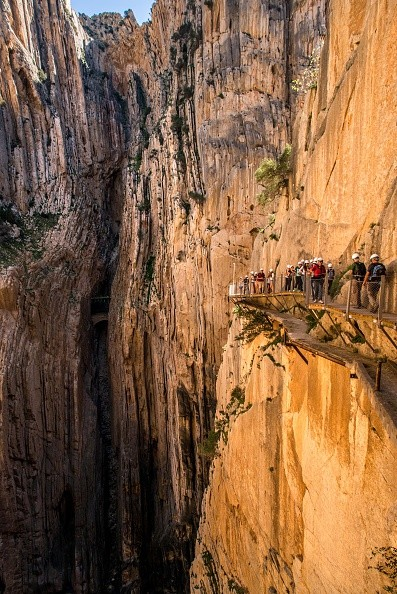 Caminito Del Rey: Calçada foi construída encravada na montanha (Foto: Getty Images)