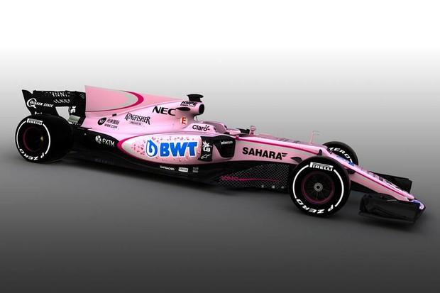 Force India VJ10 ou Pantera Cor de Rosa? (Foto: Divulgação)
