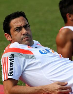 chicão Flamengo treino (Foto: Gilvan de Souza)