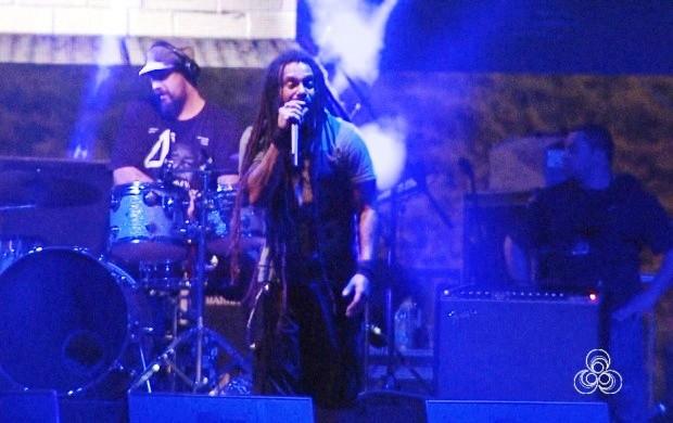 O Rappa faz show em Boa Vista durante programação do Encontro de Motos (Foto: Bom Dia Amazônia)