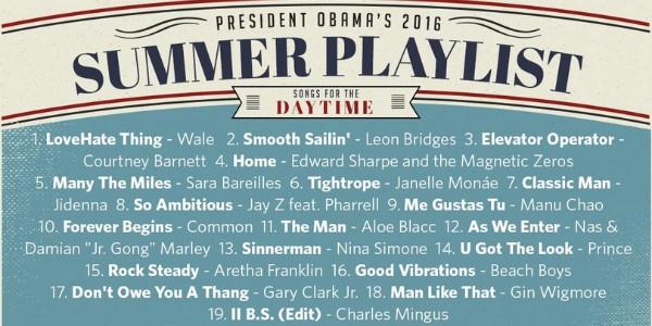 A playlist diurna de verão de Barack Obama (Foto: Reprodução/Twitter)