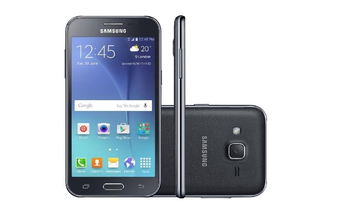 Galaxy J2 tem 1 GB de memória RAM e preço médio de R$ 600 (Foto: Divulgação/Samsung)