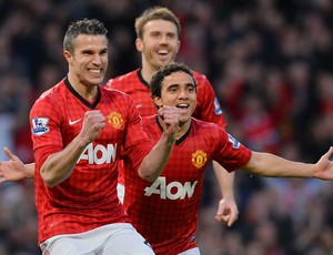 Van Persie Rafael, Manchester United x Aston Villa (Foto: AFP)