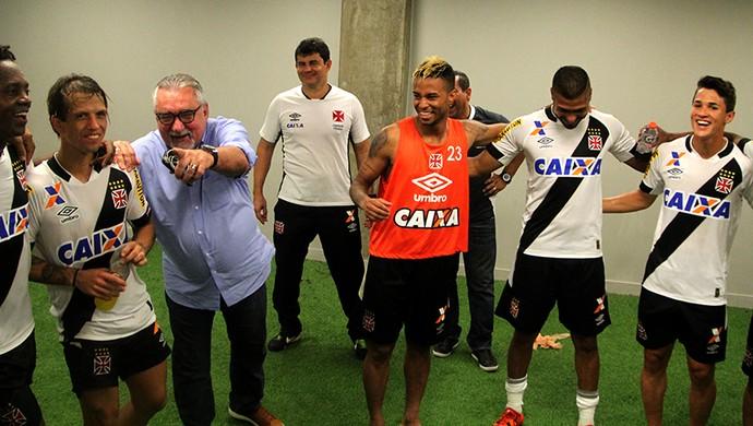 Paulo Angioni, Diguinho, Rafael Silva, Mateus Pet, Vasco (Foto: Paulo Fernandes/Vasco.com.br)