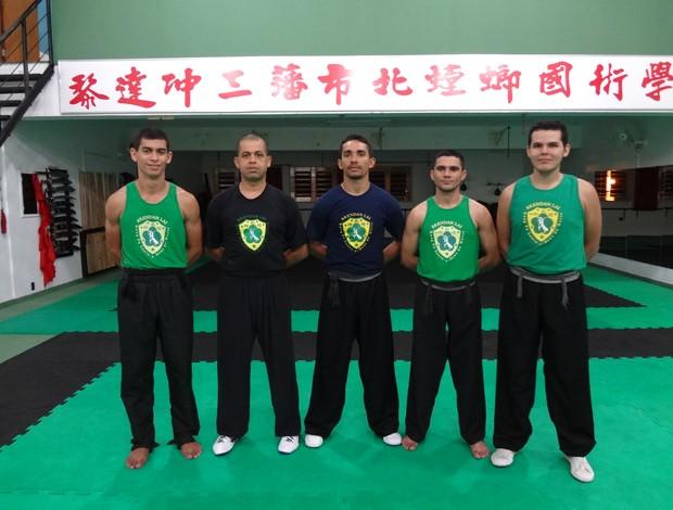 professores de Kung Fu Acre (Foto: Jânio Lira/ Arquivo Pessoal)