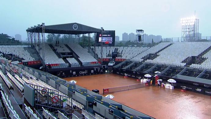 Rio Open de tênis - chuva (Foto: Reprodução / SporTV)