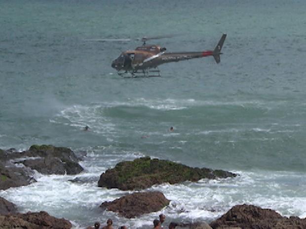 resgate mar (Foto: Imagens/TV Bahia)