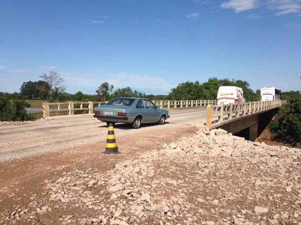 RSC-287, em Santa Maria, foi liberada antes do previsto (Foto: Thiago Guedes/RBS TV)