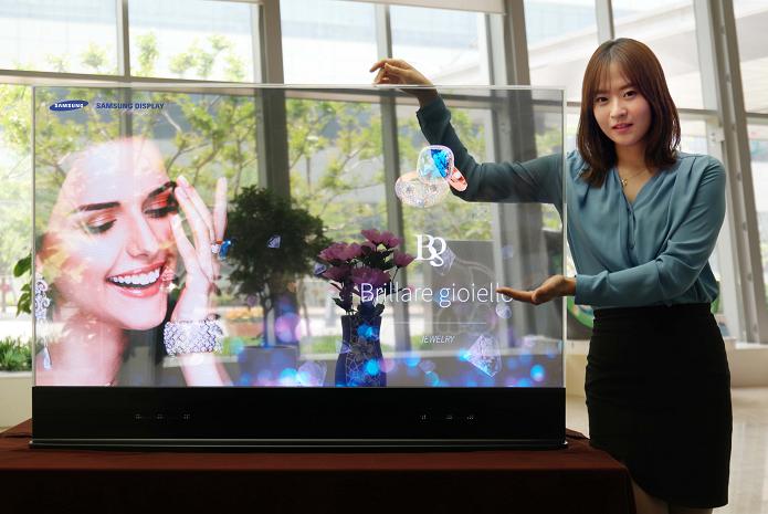 Samsung mostrou tela com transparência de mais de 40% (Foto: Reprodução/Business Wire)