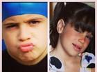 Claudia Raia posta fotos de Enzo e Sophia quando crianças
