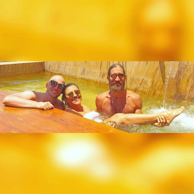 Paulo Gustavo, Regina Casé e Felipe Veloso (Foto: Reprodução / Instagram)