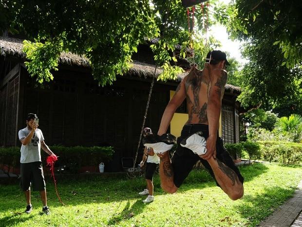 Prática de suspensão corporal começa a ganhar destaque no Acre (Foto: Dhárcules Pinheiro / Arquivo Pessoal)