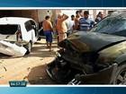 Câmera flagra acidente de carro que 'voa' e acerta 2 veículos no CE; vídeo