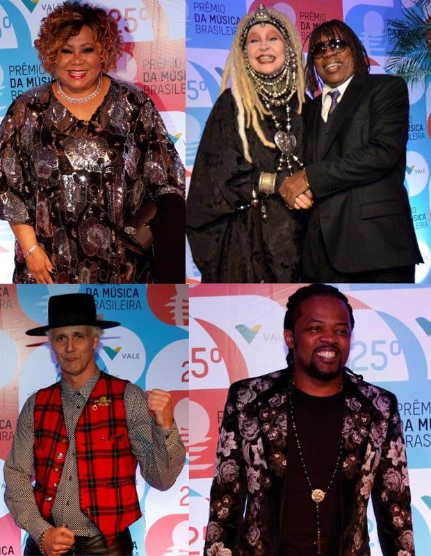 Prêmio da Música Brasileira - Alcione, Elke Maravilha e Milton Nascimento, Supla e Xande de Pilares (Foto: AG.News)