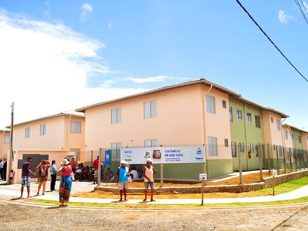Conjunto 'Serra do Mar', em Peruíbe, foi entregue em dezembro de 2014 (Foto: Divulgação / Prefeitura de Peruíbe)