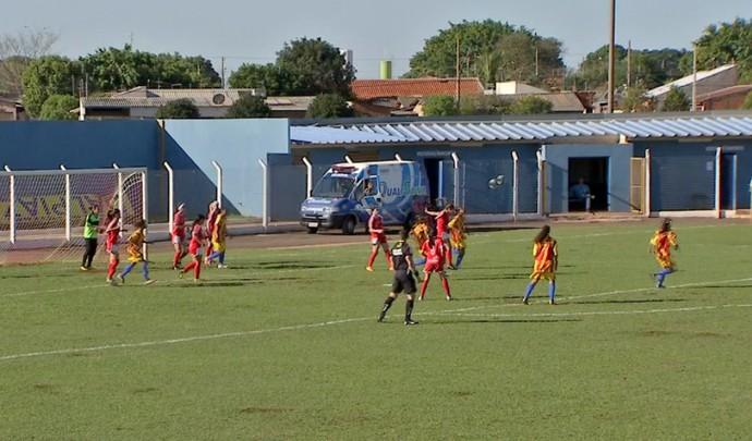 Comercial-MS e Barcelona-RJ, Copa do Brasil de futebol feminino (Foto: Reprodução/TV Morena)