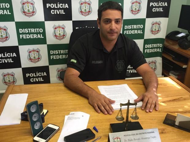 Paulo Renato Fayão, delegado da Divisão de Repressão a Sequestros (Foto: Jéssica Nascimento/G1)