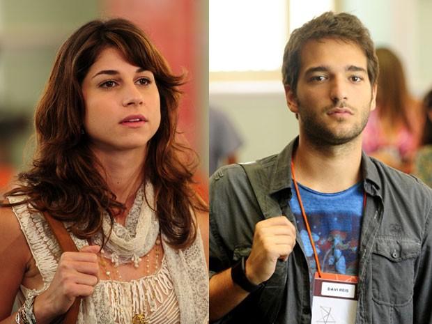 Manu e Davi: dois jovens com um sonho em comum (Foto: João Cotta/TV Globo)