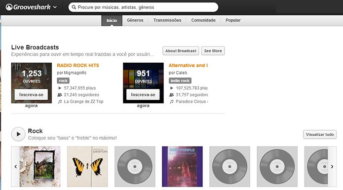 Grooveshark tem aspecto ilegal, mas promove experimentação (Foto: Reprodução/Paulo Alves)