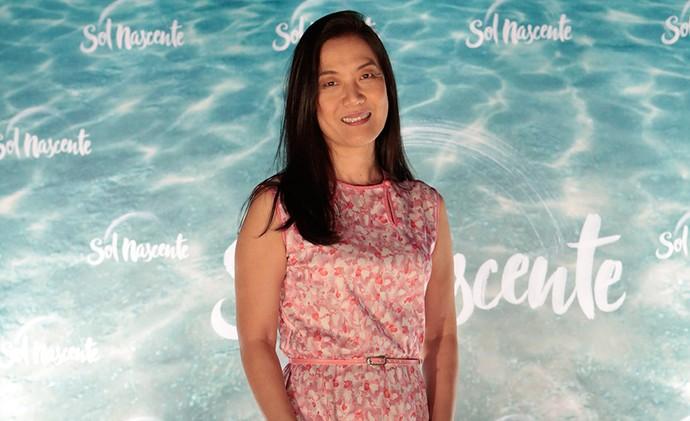 Miwa Yanagizawa vive Mieko em 'Sol Nascente' (Foto: Gshow/Felipe Monteiro)
