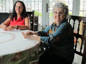 Odete e Celiana se encontraram em momento difícil da vida da aposentada. (Foto: Silvio Muniz)