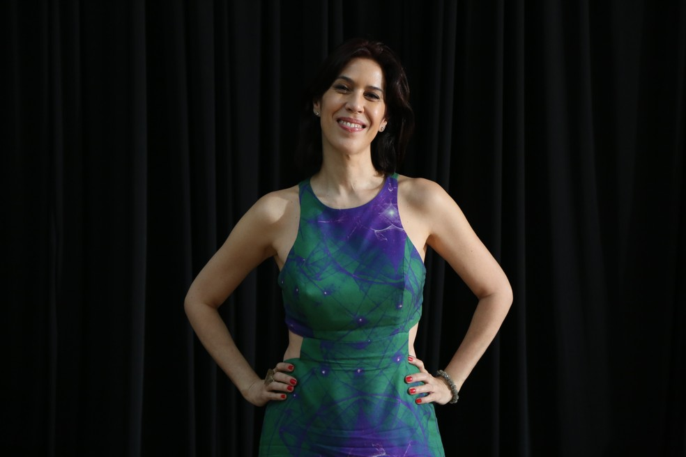Maria Clara Gueiros apostou em look fresco (Foto: Isabella Pinheiro/Gshow)