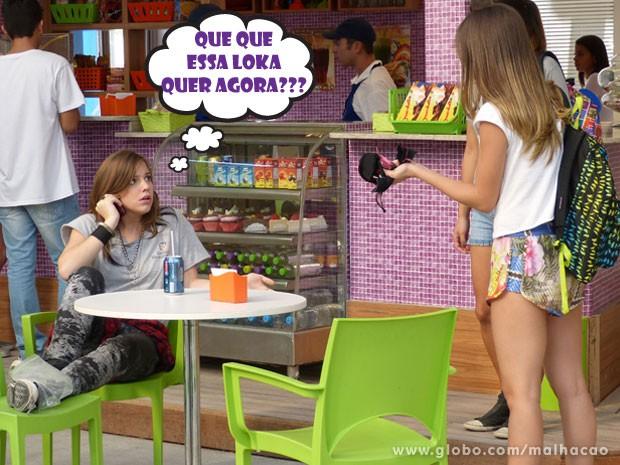 Treta! A Kika vai envenar a Fatinha e colocar na conta da Lia! Que tenso, hein? (Foto: Malhação / Tv Globo)
