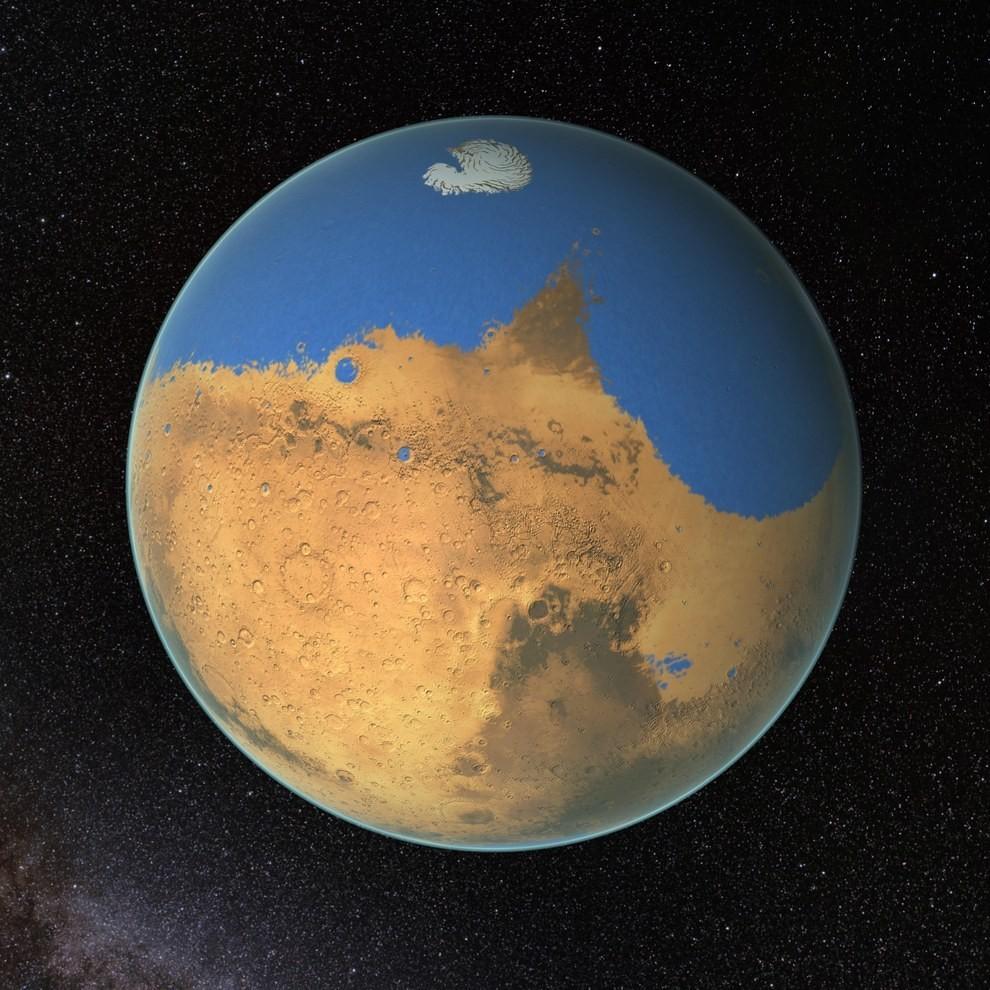 Marte pode ter tido mais água do que o Oceano Ártico