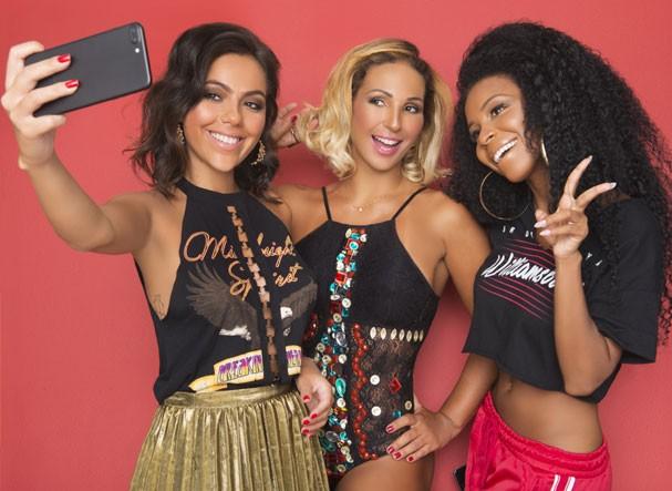 Valesca entre as influencers Lorrana Oliveira e Luane (Foto: Faya / Divulgação)
