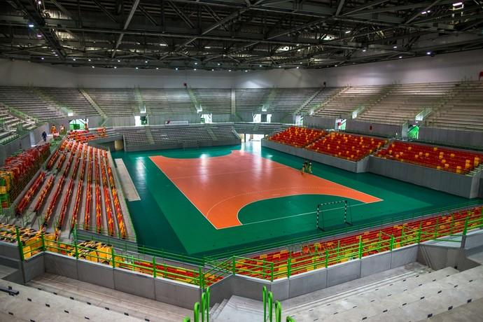 Arena do Futuro começou a ter as cadeiras instaladas em março. Hoje, todas já estão no local (Foto: Gabriel Heusi/Brasil2016.gov.br)