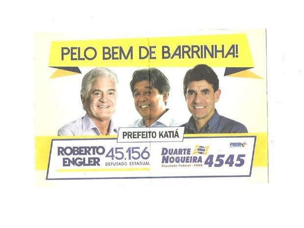 Prefeito do PT aparece ao lado de candidatos do PSDB em Barrinha (SP). (Foto: Diretório do PT de Barrinha)