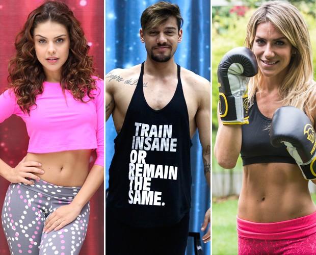 Paloma Bernardi, Lucas Lucco e Giovanna Ewbank dão dicas de boa forma incríveis (Foto: Pedro Curi/Fábio Rocha/Camila Camacho/Gshow)