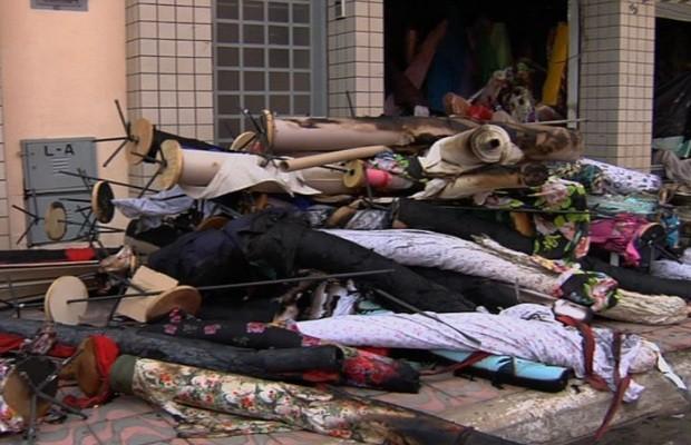 G1 Inc u00eandio deixa loja de malhas parcialmente destruída em Goi u00e2nia notícias em Goiás