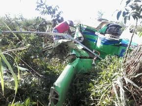 Piloto ia de uma fazenda para outra quando o avião caiu (Foto: Divulgação/Polícia Militar)