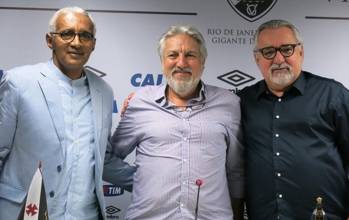 Isaias Tinoco, José Luis Moreira e Paulo Angioni, Vasco (Foto: Edgard Maciel)