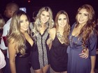 Ex-BBBs Talita, Tatiele, Tamires e Amanda Gontijo curtem balada juntas