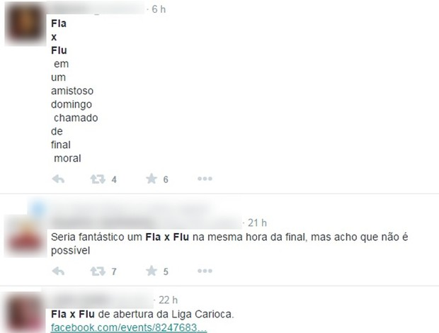 Torcedores Fla e Flu pedindo a Liga Carioca