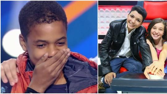 Juan Carlos Poca recebe recadinhos dos finalistas da primeira temporada do 'The Voice Kids'