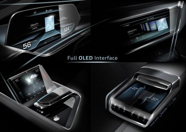 Interior terá telas digitais de OLED (Foto: Divulgação)