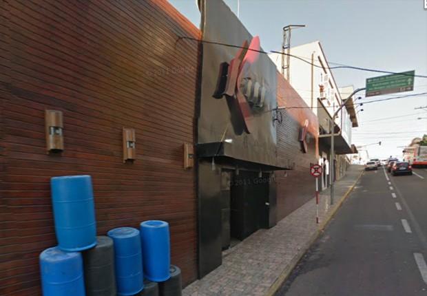 Imagem mostra a fachada da boate Kiss, em Santa Maria, antes de incêndio (Foto: Google Street View)