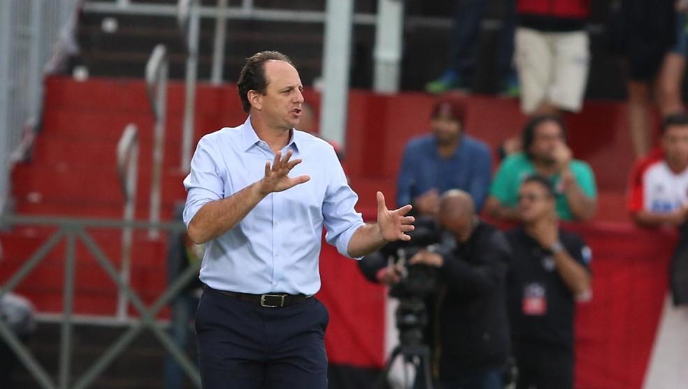 Rogério Ceni na derrota do São Paulo para o Flamengo (Foto: Rubens Chiri / site oficial do SPFC)